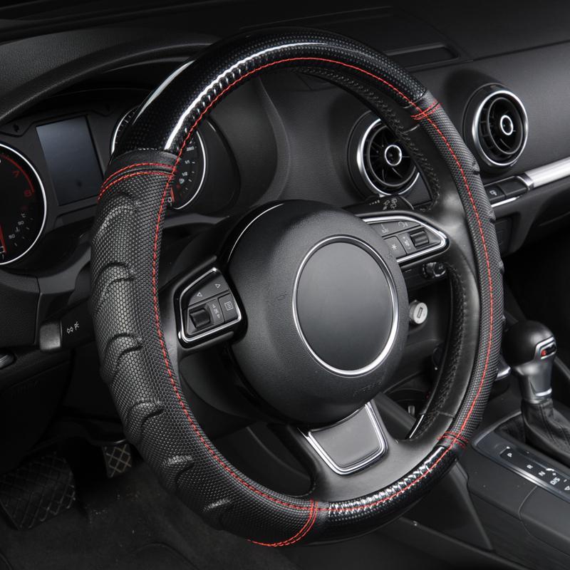 Мода стиль автомобиля руль охватывает комфортно и без скольжения личи модель Пу – купить по низким ценам в интернет-магазине Joom