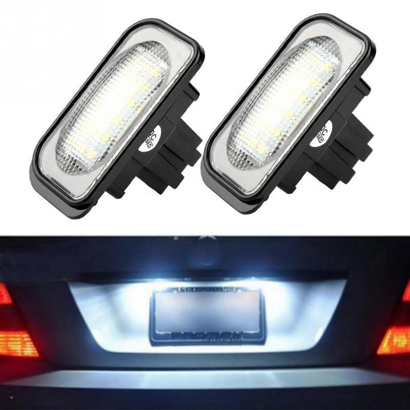 2pcs Car Auto LED White License Plate Light For Mercedes Benz CLK W209 A209 C209
