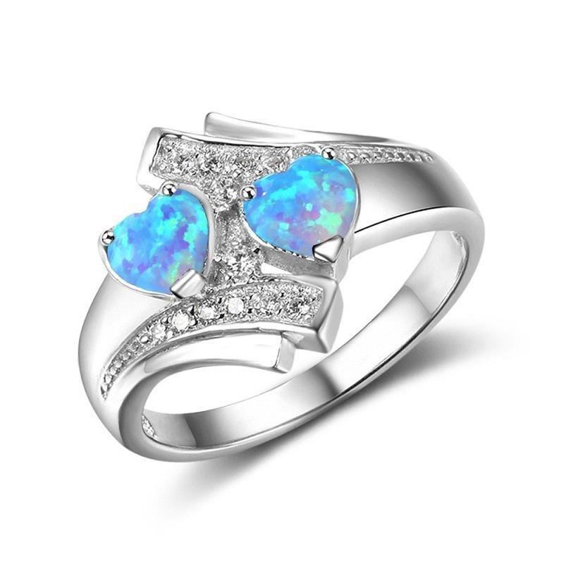 Mariage Mariée Cadeau Rose /& White Topaz Gemstone Silver Ring Taille 6 7 8 9 10 11 12