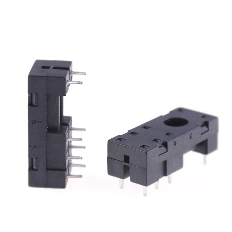 5Pcs PCB plug-in G2R-2 8-pin relay socket base  FJPTUKZT