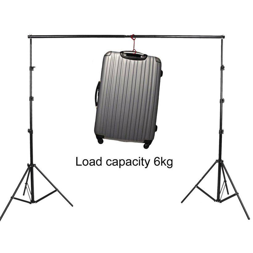 3m//10Ft Adjustable Detachable Photo Background Cloth Support Photography Studio Backdrop Stand Portable Crossbar Kit
