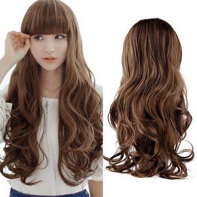 Womens 70cm Long Wavy Curly Hair Synthetic Cosplay Full Wig Wigs Party Costume