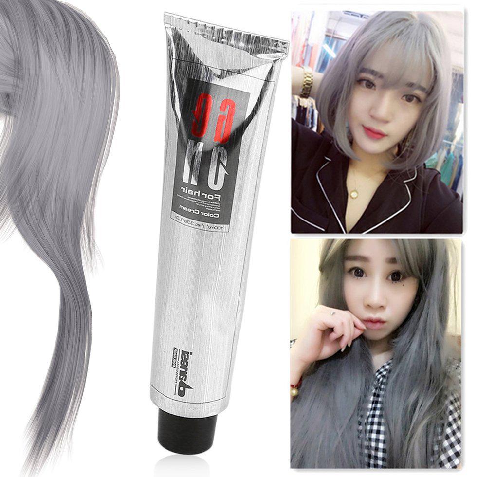 100ml Pro Light Grey Hair Color Natural Hair Dye Cream Dyeing Non