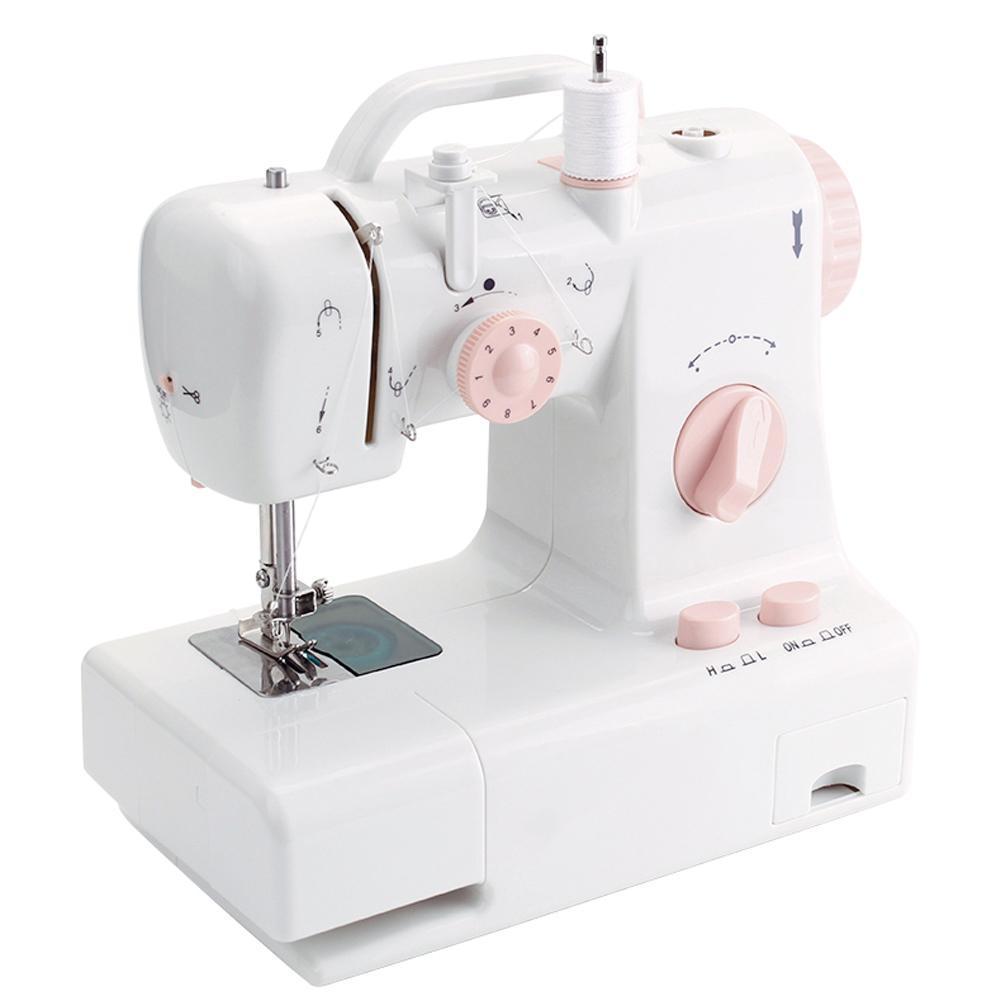 Mini máquina de coser FHSM-318 incorporado luz hogar