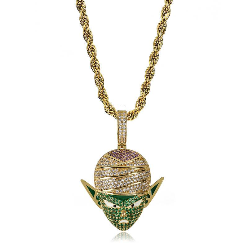 Dragon Ball Z Piccolo Hip Hop Iced Out Jewelry Rope Chain Anime Necklace