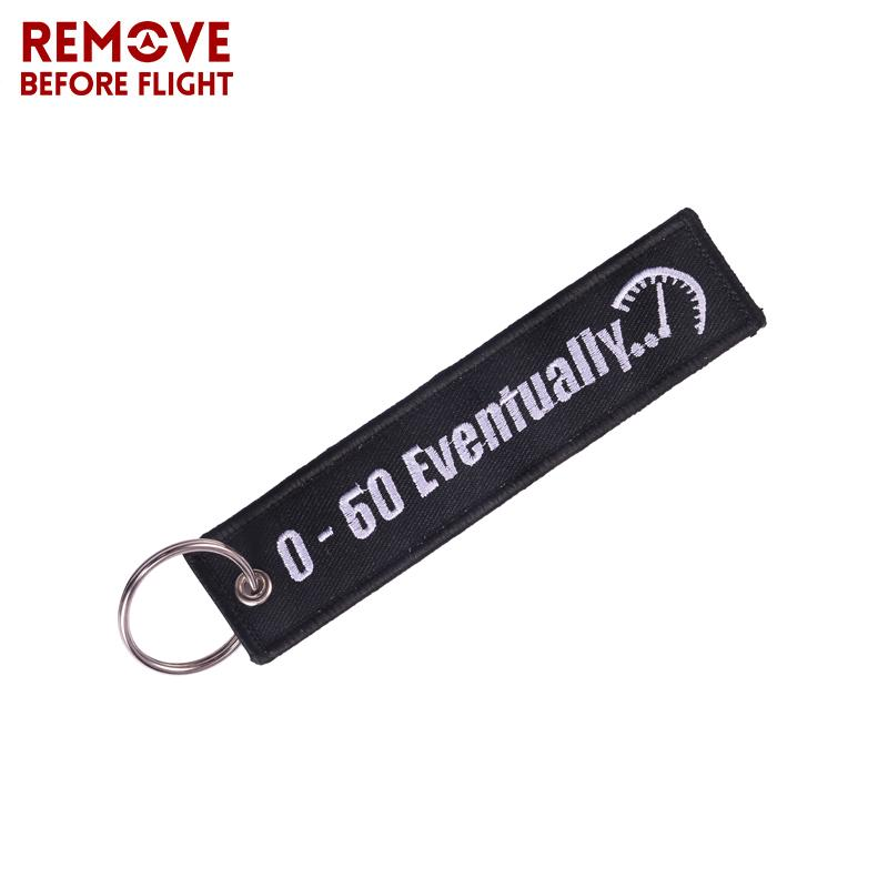 Remove Before Flight  Keychain Keyring Polyester EmbroideryCRSPF