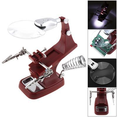 USB 360 Rotation Desk-top Multifunctional Adjustable Welding Magnifier with Alligator Clip Holder