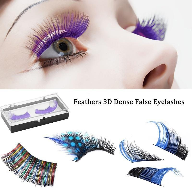 Beauty & Health Red Color Exaggeration Eyelashes Extra Long Dramatic Lashes Costume Party Stage Eye Lashes Fake Eyelash Extension Makeup Tools Cheapest Price From Our Site