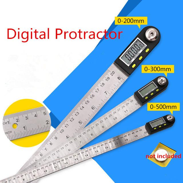 """Stainless Steel 300mm Digital Protractor Inclinometer Electronic Angle Gauge 12/"""""""