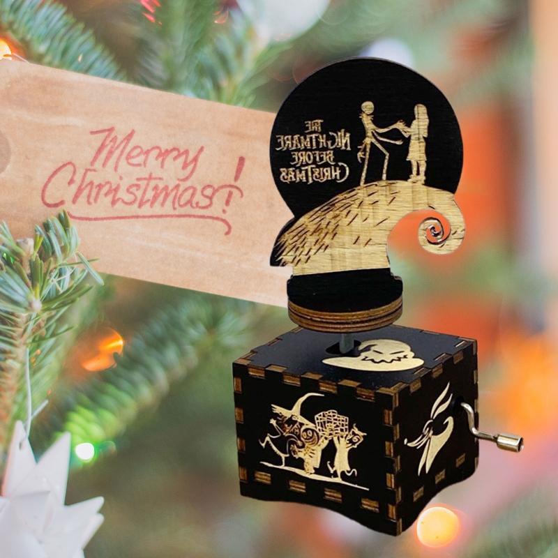 Квадратная ручная ретро деревянная музыкальная шкатулка Fright Night Music Nightmare Decorate – купить по низким ценам в интернет-магазине Joom