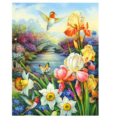5D DIY Full Drill Diamond Painting Flower Birds Cross Stitch Kits Art Wall Decor