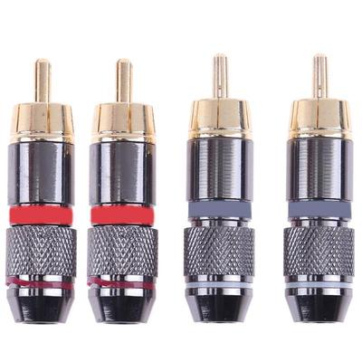 4PCS 4 Pin Speakon Connector Male Professional Speaker Audio Cable Plug adapter