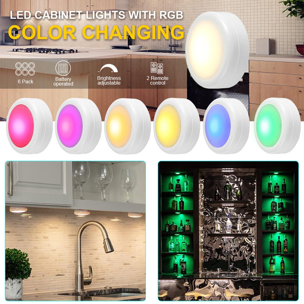 Wireless Color Changing Led Puck Light With Remote Controls Led Under Cabinet Battery Powered Stick On Lights Buy From 5 On Joom E Commerce Platform