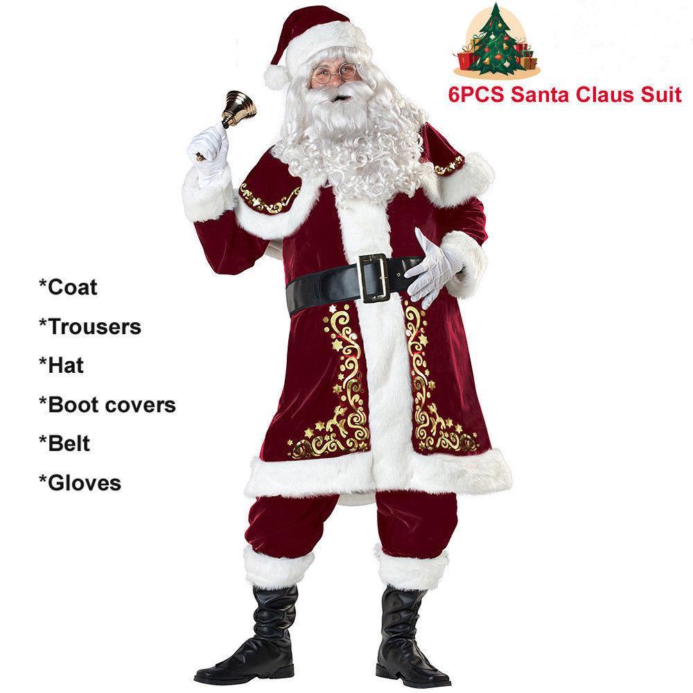 HQ Women/'s Merry Christmas Mrs Santa Claus Red Cloak Xmas Costume Pleuche Cape