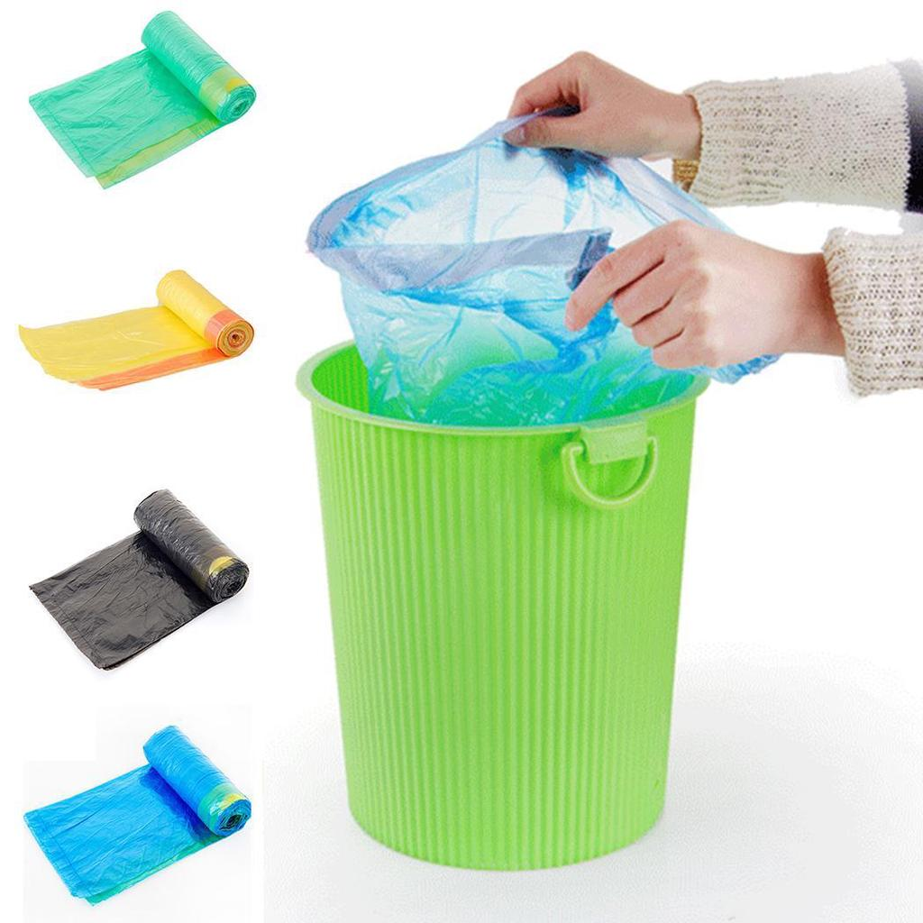 5 Rolls 100 Pcs Thick Rubbish Garbage Kitchen Toilet Clean-up Waste Trash Bags