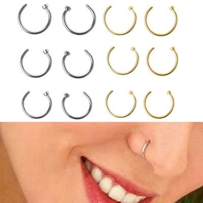 Z2Z 16G Nose Hoop Lip Eyebrow Tongue Helix Tragus Cartilage Septum Piercing Ring 10mm Surgical Stainless Steel