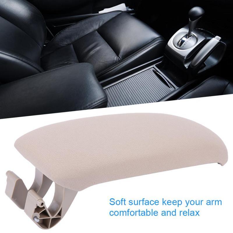 Microfiber Leather Armrest Center Console Lid Cover Compatible with Audi A3 8P 03-12 8P0864245P8E1 Gray Car Armrest Cover