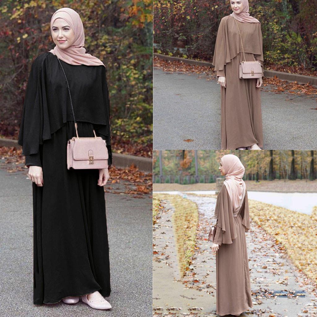 Muslim Dresses for Women,Vintage Womens Abaya Long Maxi Dress Arab Jilbab Muslim Robe