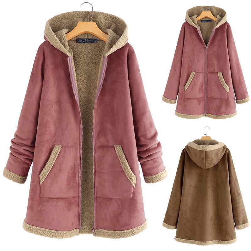 ZANZEA Womens Loose Warm Fluffy Fur Coats Jackets Casual Wraps Cardigans Outwear