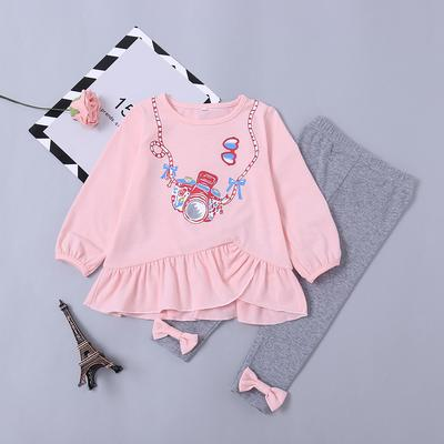 41c179863 Fashion Kids Baby Girls Toddler Bunny Shirt Dress+Leggings Set Autumn  Winter Clothes Outfits