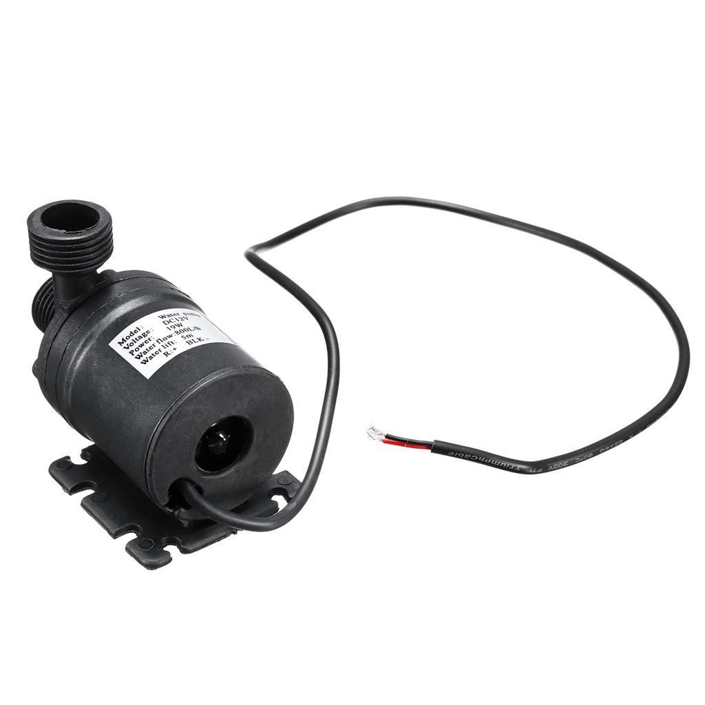 Ultra Quiet Mini DC 12V 800L//H 19W Lift Water Pump Brushless Motor Submersible F
