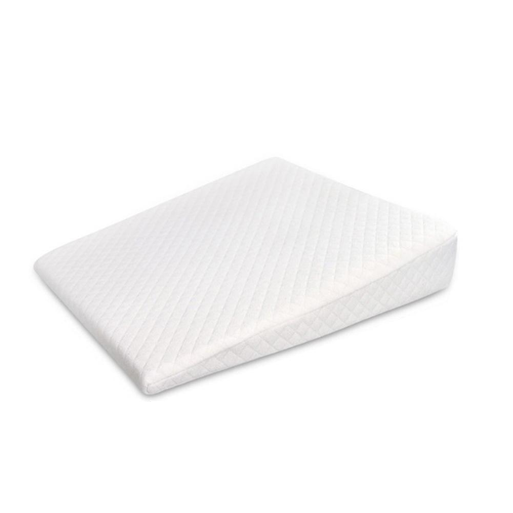 Baby Side Sleeping Pillow Removable and Washable, Shaped Pillow Anti-Spitting Milk White Anti-Head