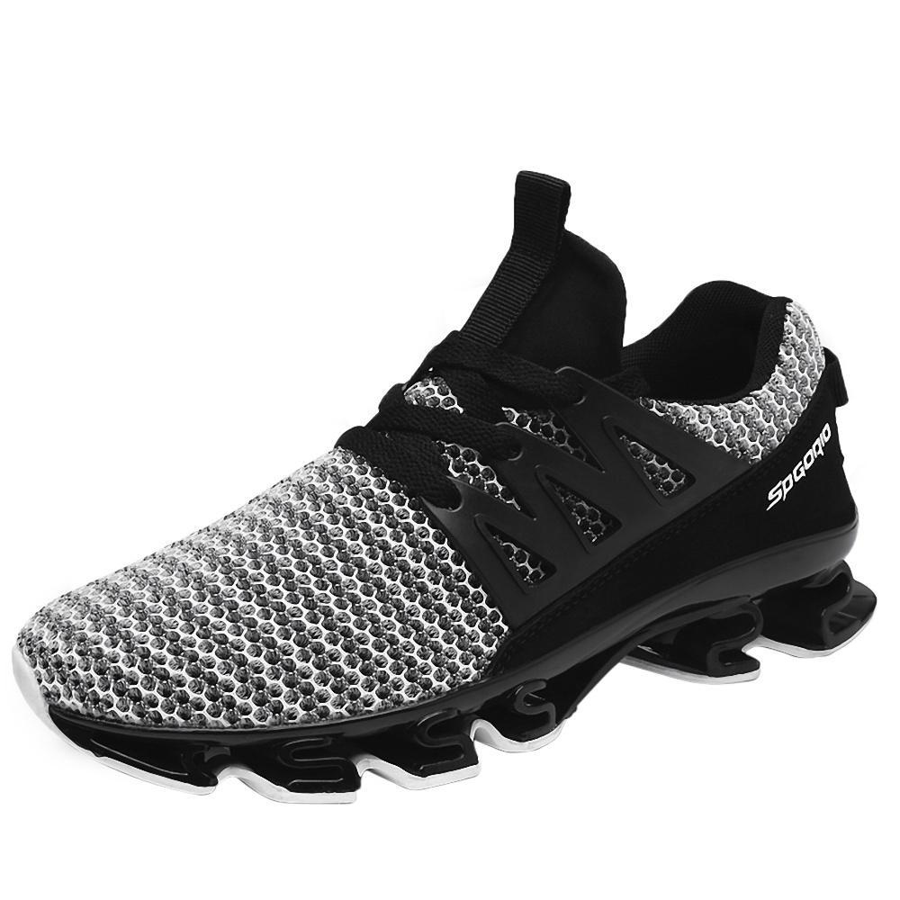 Abosas casual running deporte zapatos hombre de los hombres transpirable pisos  zapatos