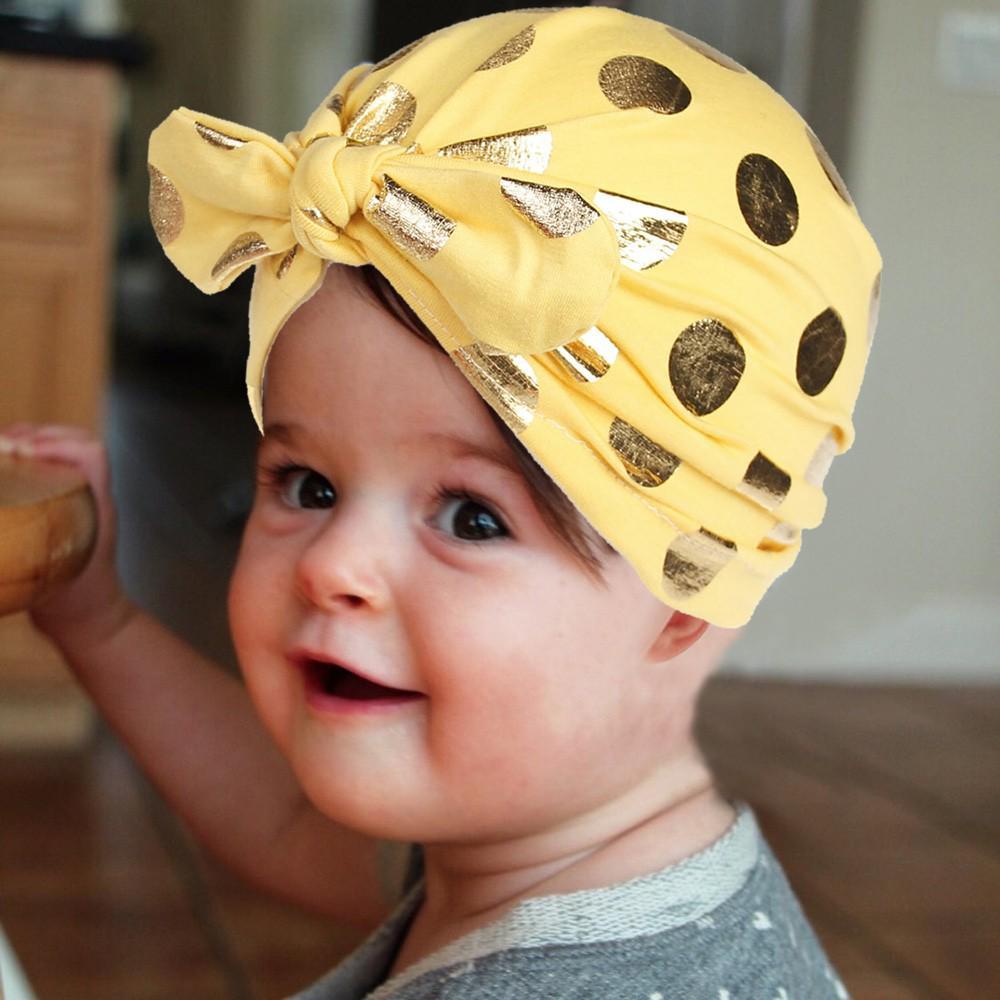 Hats & Caps Bright Baby Girl Boys Fashion Tie Indian Hat Children Infant Newborns Elastic Childrens Polka Dot Hat Printing Hedging Cap