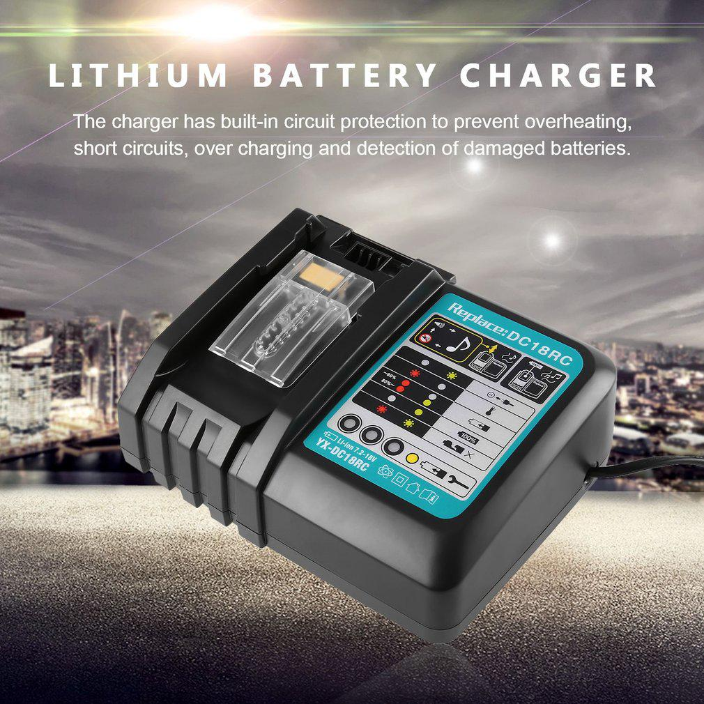 Dc18rc Replacement Charger 72v 18v For Makita Power Tools Lithium Battery 1 Of 7