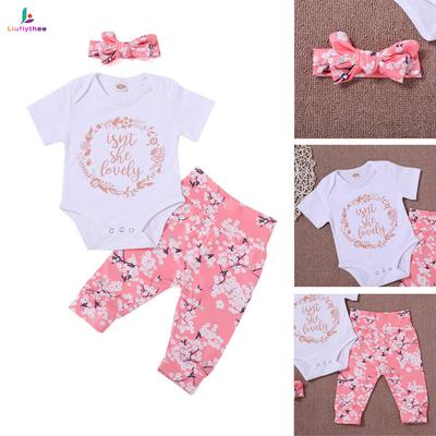 Baby Girl Clothes Hot Newborn Infant Baby Girls Pink Letter Print Romper Bodysuit Jumpsuit