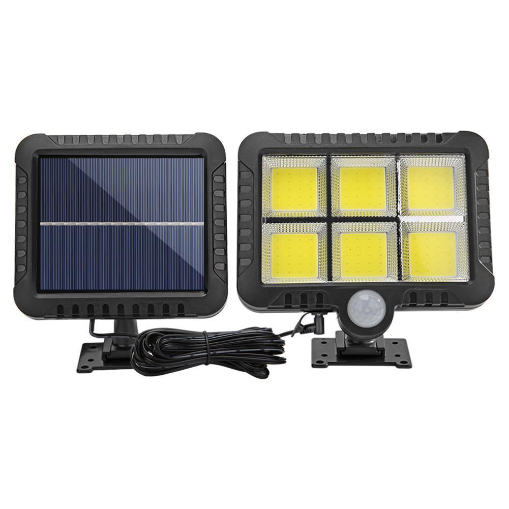 120LED Solar Powered Motion Sensor Wall Light Yard Lamp Garden Outdoor Lighting