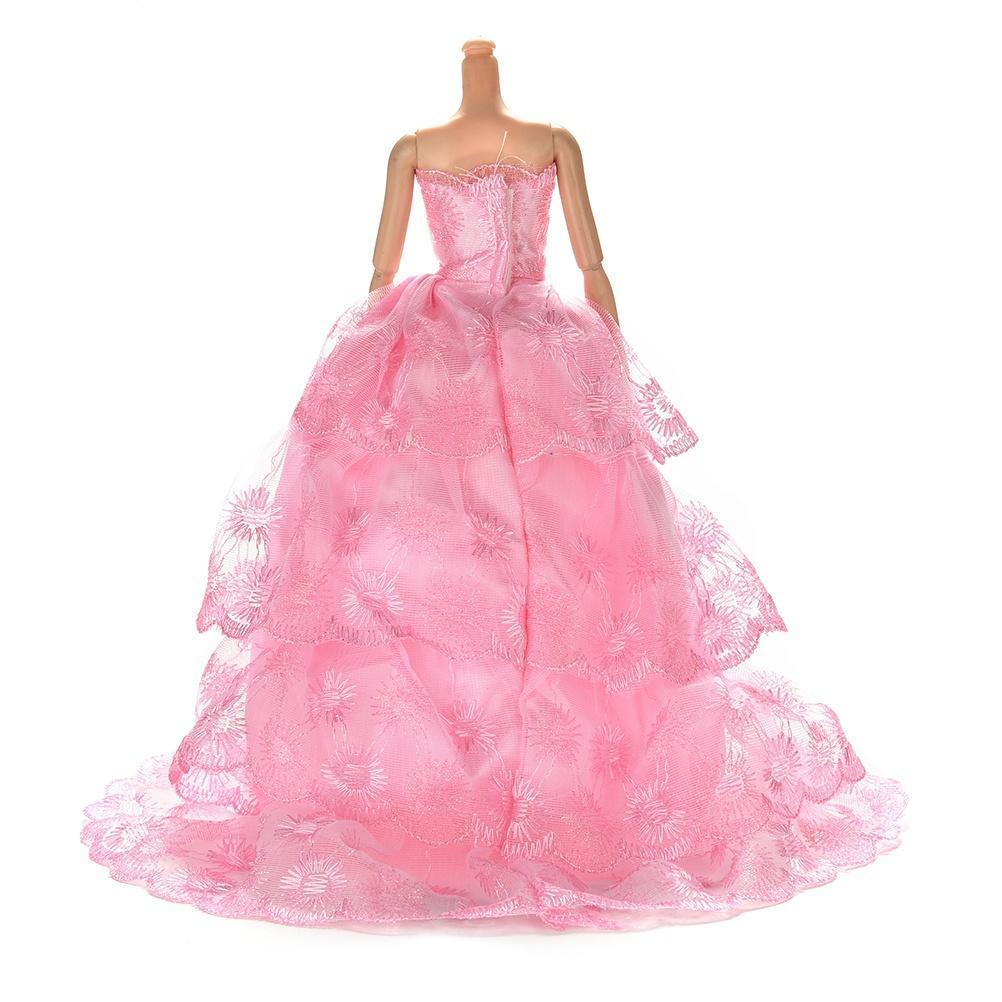Historia de Barbies clothesBarbies 4 vestido Barbie muñeca rosada de ...