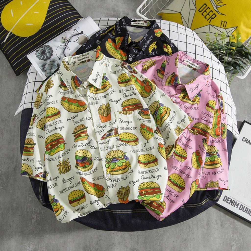 Мужская случайные короткие рукава пляжа топы свободная блузка летняя мода рубашки – купить по низким ценам в интернет-магазине Joom