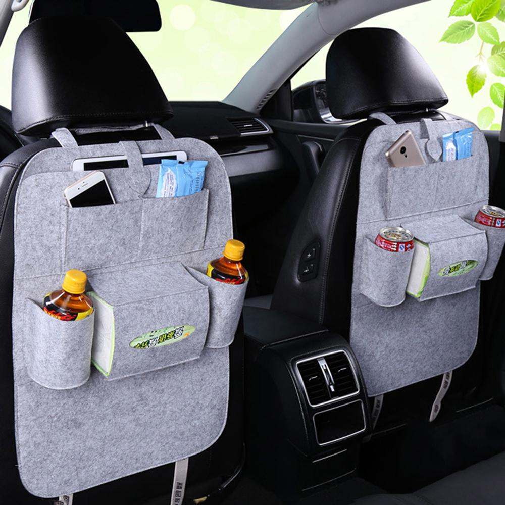 Car Rear Seat Tidy Organiser Travel Storage Boot Multi Pockets Bag Holder Mesh
