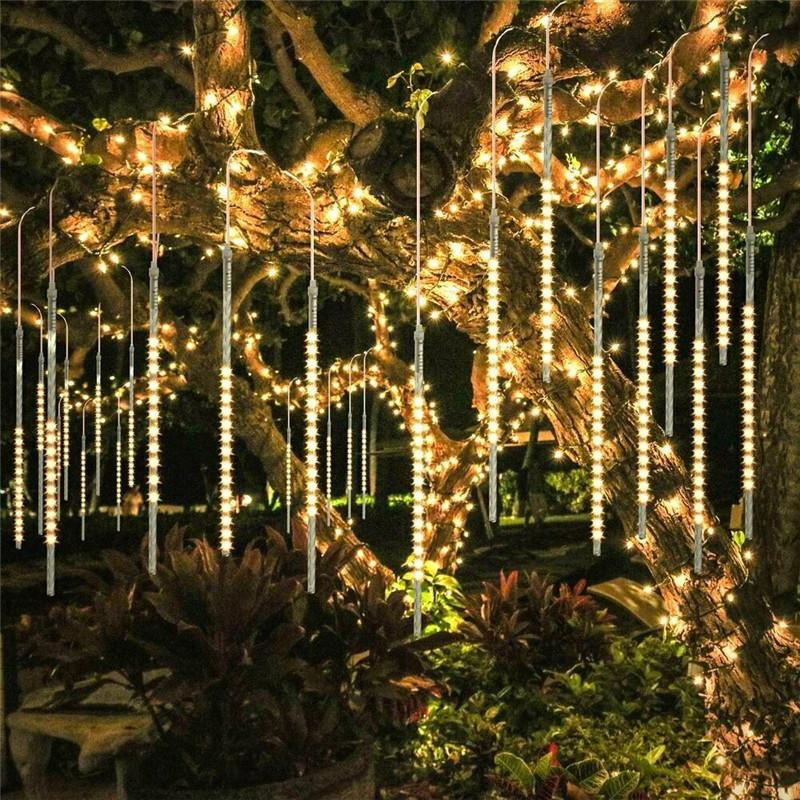 LED Meteor Shower Falling Rain Icicle Lights 30//50CM Outdoor Christmas Party UK