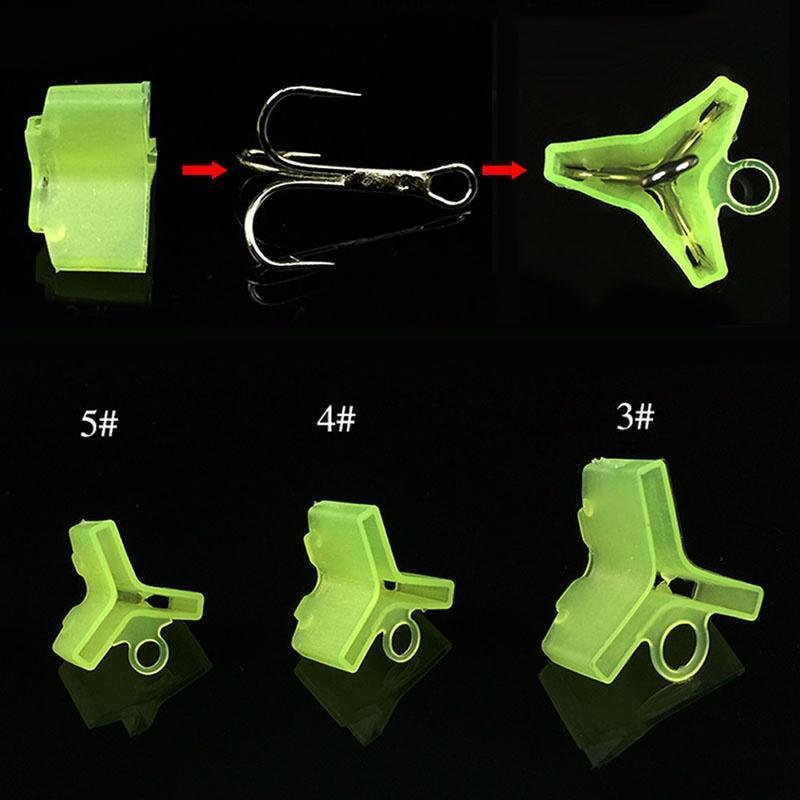 50PCS Plastic Fishing Treble Hooks Hooks Covers Case Caps Protector Bonnets