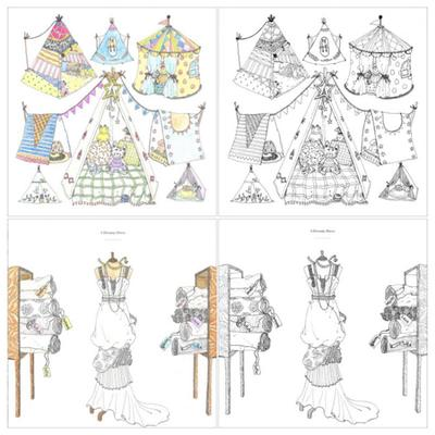Hers Fashion Design Children Kids Coloring Book Girls Modern Style Drawing Books Graffiti Painting Buy At A Low Prices On Joom E Commerce Platform