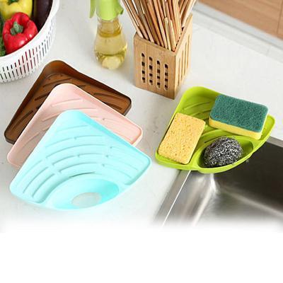 Cocina Triángulo estante fregadero plato drenaje estante baño jabón ...