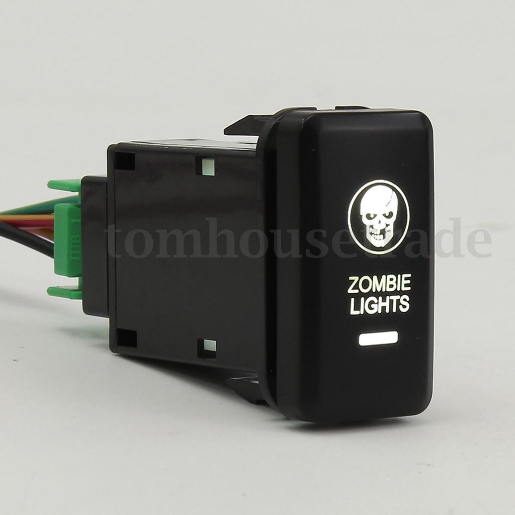 On Off Push Switch Led Zombie Lights Cool Color 12 24v Replacement Light Wiring Diagram 1 Of 10