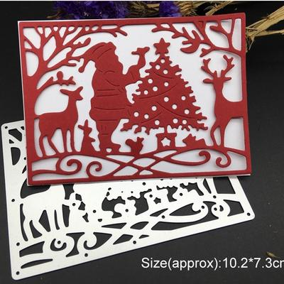 Cute Little Deer Christmas Metal Cutting Dies DIY Paper Scrapbook Card Stencils