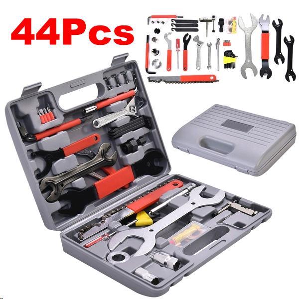 44PCS Professional Bike Bicycle Cycling Chain Maintenance Repair Tool Wrench Kit
