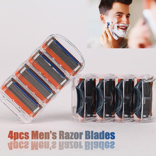 Мужская Fusion Держава Пополнение бритвы лезвия смазки Закрыть бритья бритья фото
