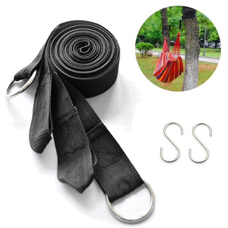 2X 3M Hanging Straps Rope Strong Strap Belt Hammock Tree Straps 2 Hooks Slings