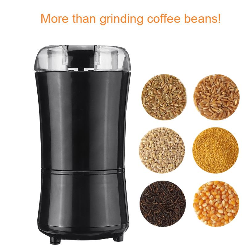 Electric-Coffee-Grinder,Coarse-Medium-Fine,One-Touch-Blade-Spice-Grinders,200W Stainless Steel Powder Grinding Machine