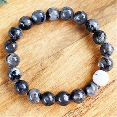 6-8 Mm Améthyste Chakra Guérison Bracelet spiritualité Lucky Bless Natural Bead