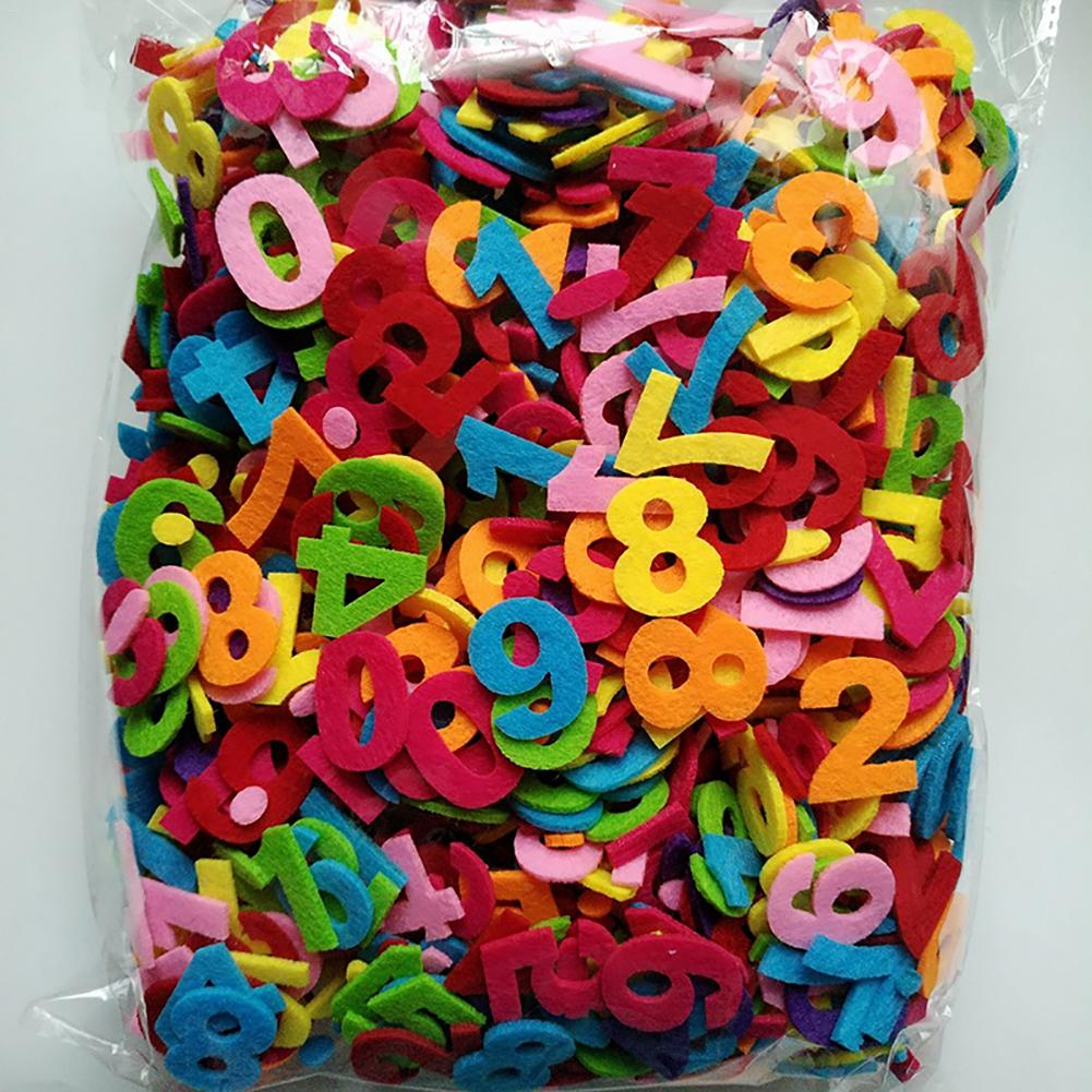 Fabric 130pcs English Alphabet Colorful Felt Fabric Pads Patches Felt Pads Fabric Flower Accessories Handmade Applique Materials Arts,crafts & Sewing