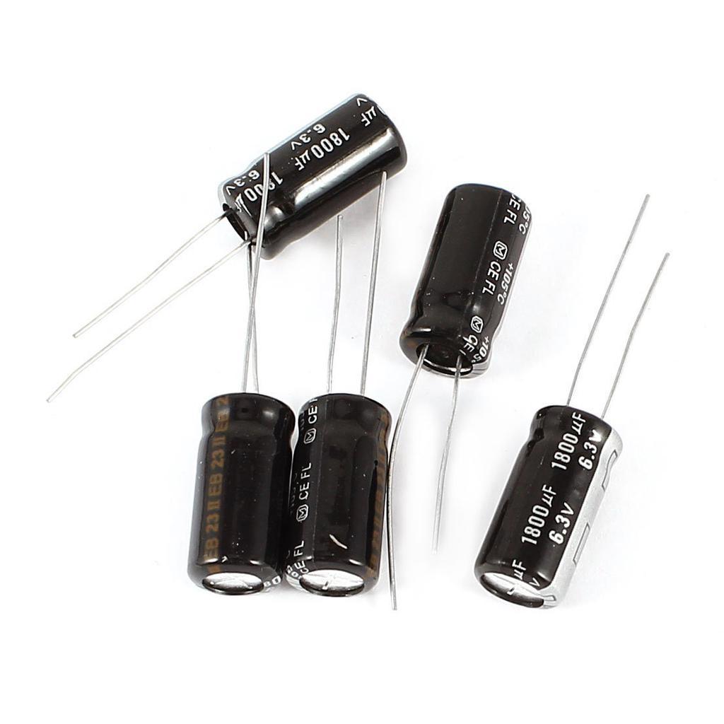 2 pz Condensatori elettrolitici 1800uF micro farad 10V 105°