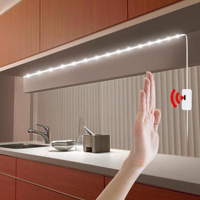 LED Under Cabinet Light Led Lamp with Hand Sweep Motion Sensor USB Port Lights Kitchen Stairs Wardrobe Bed Side Light