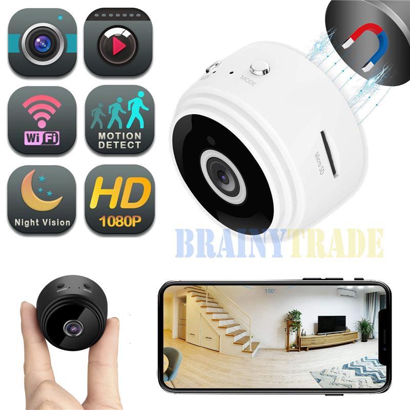 HD 1080P Wifi Spy Camera 150° Mini Hidden Camcorder Video Recorder Nanny Cam New