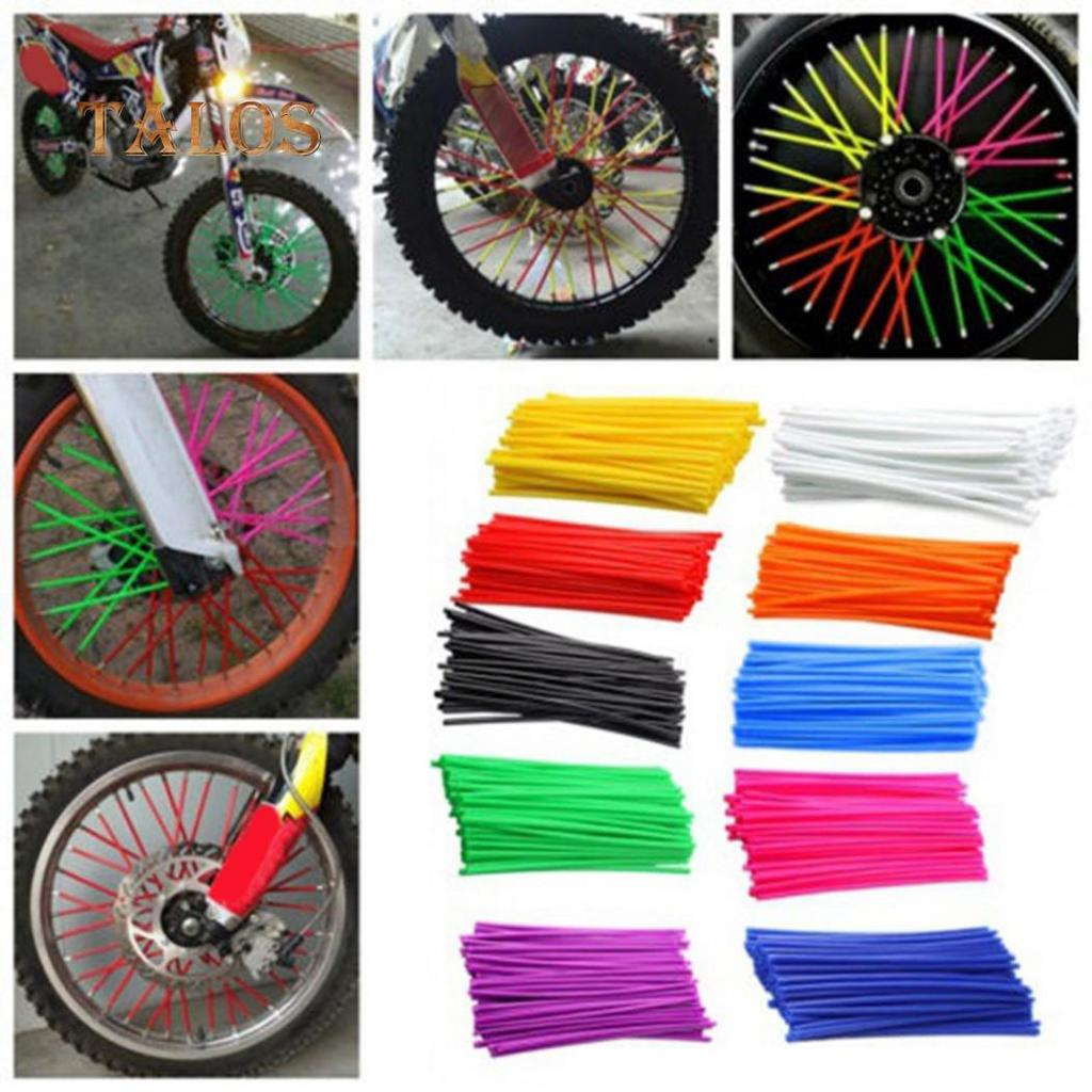 36//72pcs Wheel Spoke Wraps Rims Skins Cover Guard Protector Motocross Dirt Bike